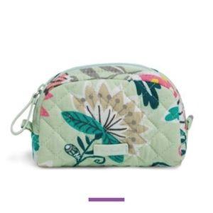 Vera Bradley Mini Dome Cosmetic Bag - Mint Flowers